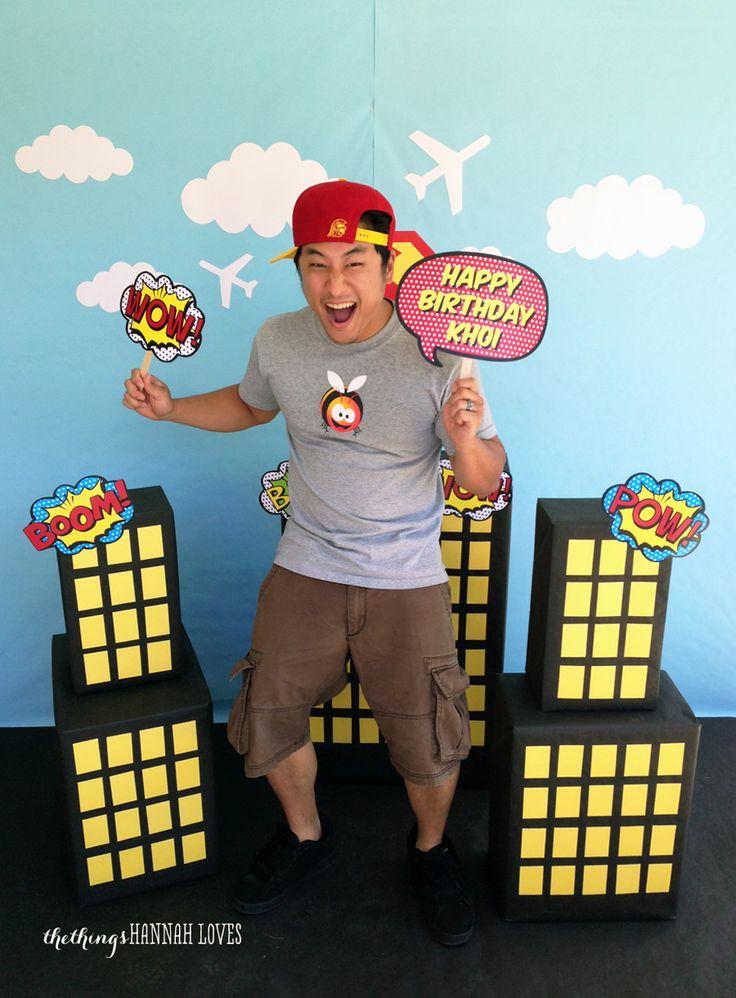the things hannah loves: SUPERHERO BIRTHDAY PARTY