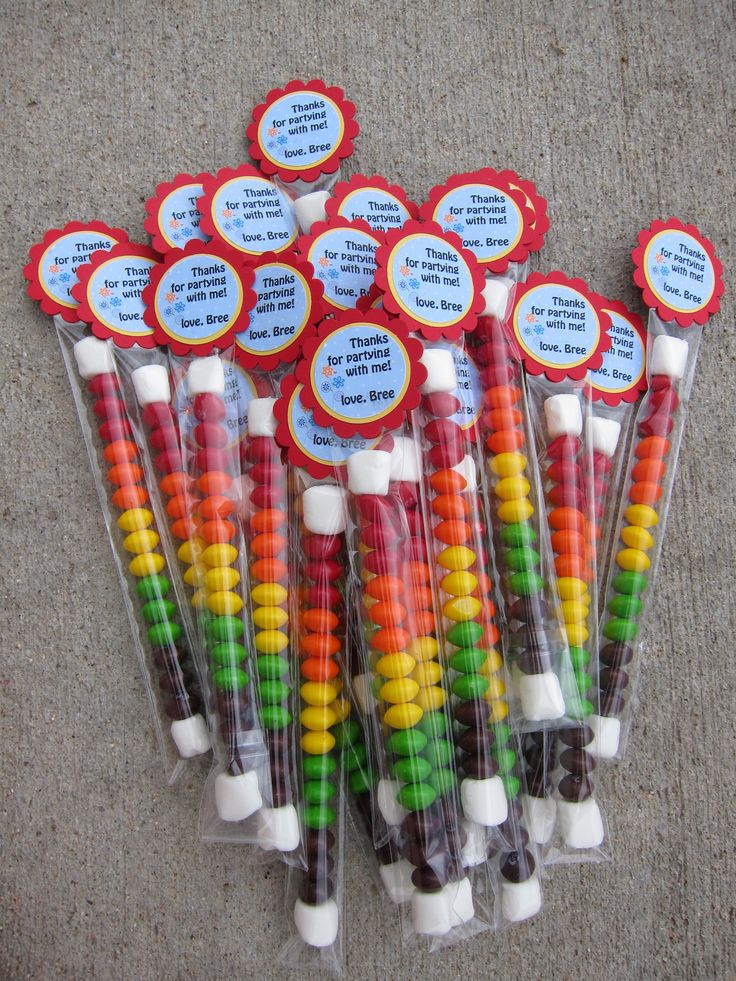 skittles party favors! how bout these with a white tag ...