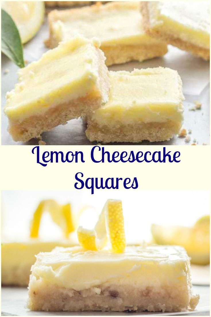 Lemon Cheesecake Squares, a delicious shortbread base & a creamy lemony filling. The perfect Cookie Bar or Dessert recipe. via @https://it.pinterest.com/Italianinkitchn/
