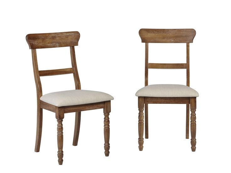 Muse Driftwood Transitional Dining Chair (Set Of 2) Driftwood