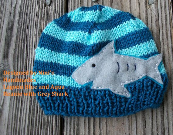 Hey, I found this really awesome Etsy listing at https://www.etsy.com/listing/106816749/knit-shark-kids-beanie-made-in-the-usa