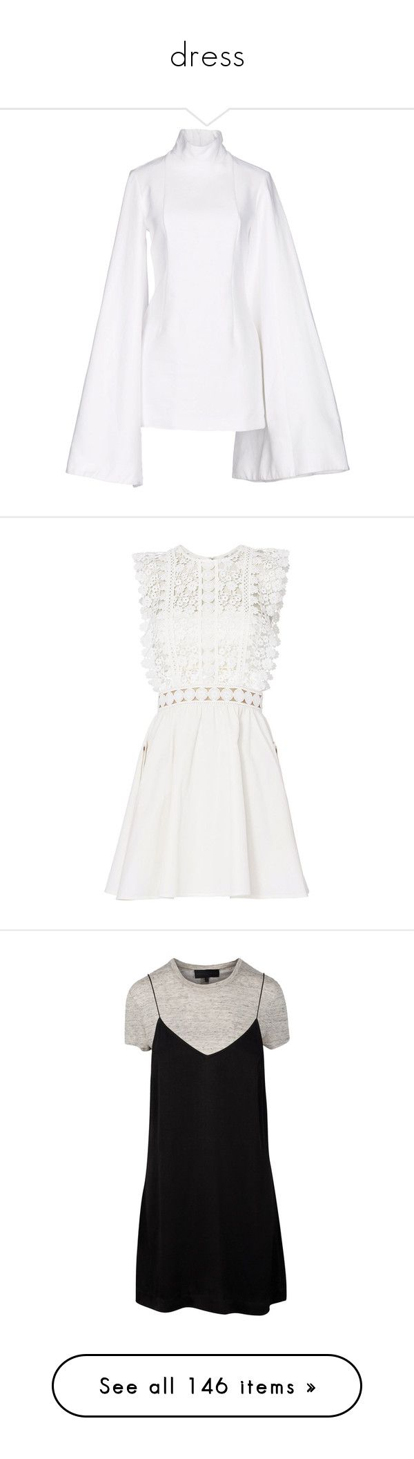 """dress"" by rexanne-official ❤ liked on Polyvore featuring dresses, white, long-sleeve mini dress, mini dress, white turtleneck dress, long sleeve dress, long sleeve turtleneck dress, white dresses, floral fit and flare dress and white mini dress"