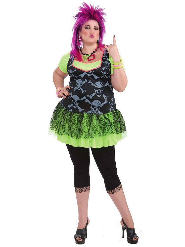 Women S 80 Punk Plus Size Costume