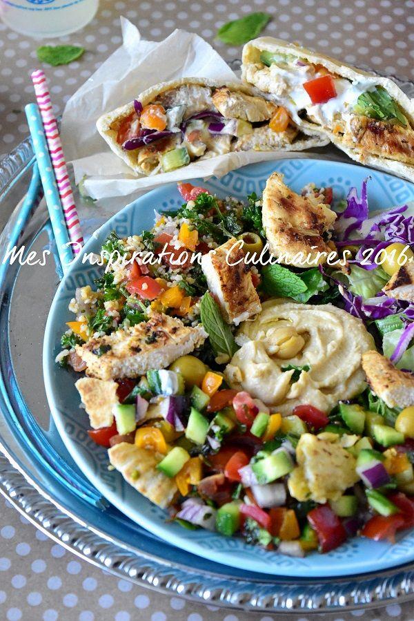Salade libanaise Fattouche au pain pita