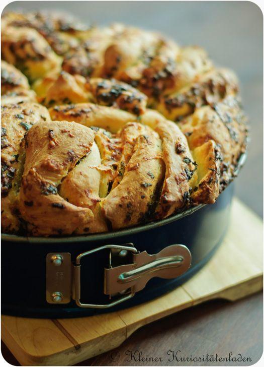 Kräuter-Käse Zupfbrot ☆ Die ideale Beilage zum Grillen