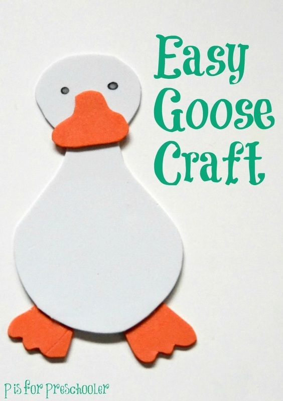 Easy goose craft for toddlers or preschoolers just right for the 12 Days of Christmas