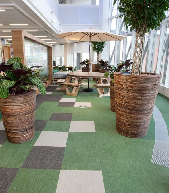 Bolon flooring in the office of The Co-operative Group in London, UK