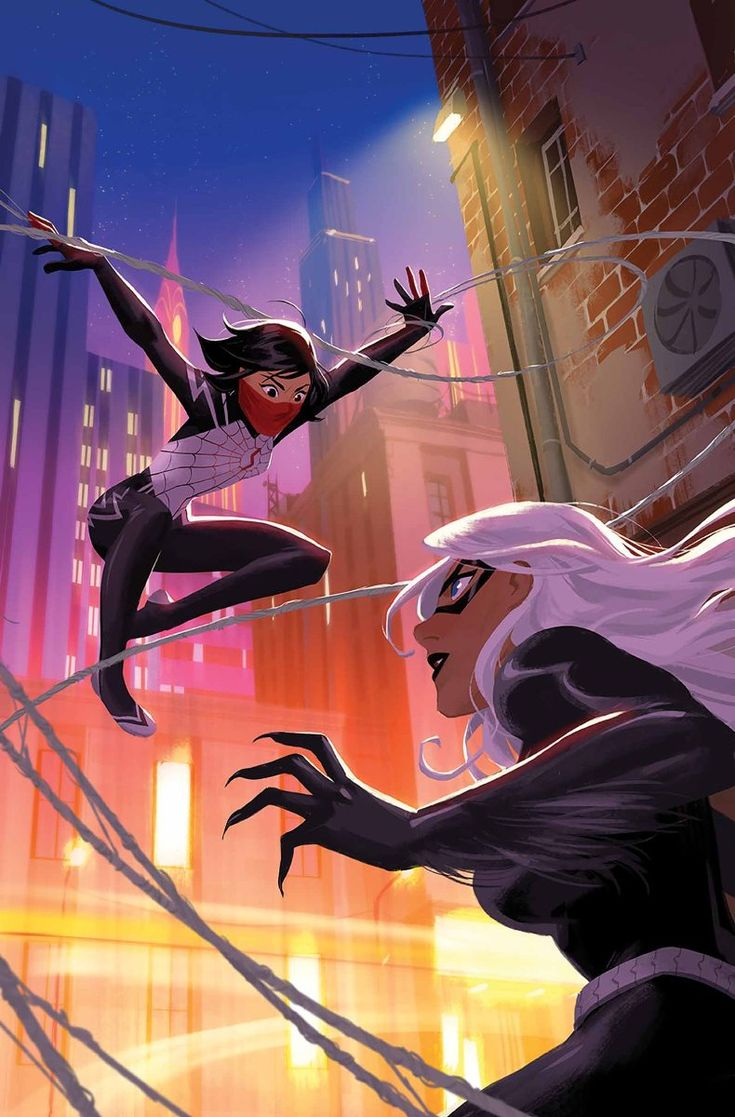 I've always liked Black Cat, it's cool starting to get to know Silk more. I like her so far!  Silk vs. Black Cat - Helen Chen