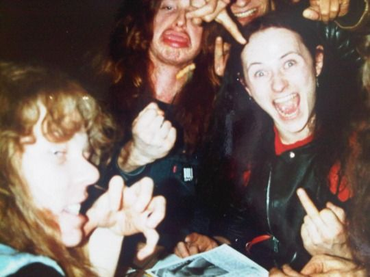 James, Cliff (Metallica) & Cronos (Venom). Hell photo