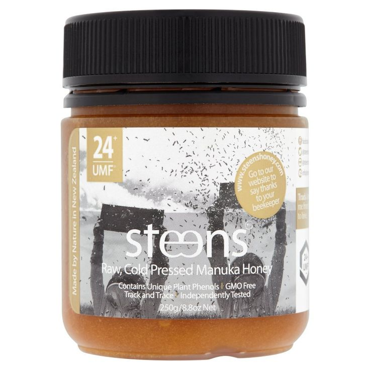 Steens Raw Manuka Honey UMF 24+ (MGO1122+) 8.8oz | 100% Raw Unpasteurized Honey From New Zealand | Contains Natural Healing Properties for Sore Throats & Immunity | Traceability Code on Each Label