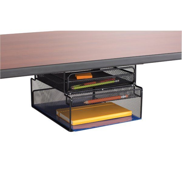 Mesh Mountable Hanging Desk Storage Desk Storage Office Supplies Diy Safco