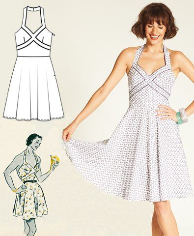 Retro dress- free sewing pattern @Anna Anderson I could see Bekah wearing this!