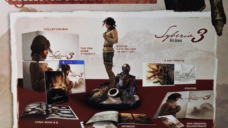 Syberia 3: Collectors Edition (PS4) Unboxing