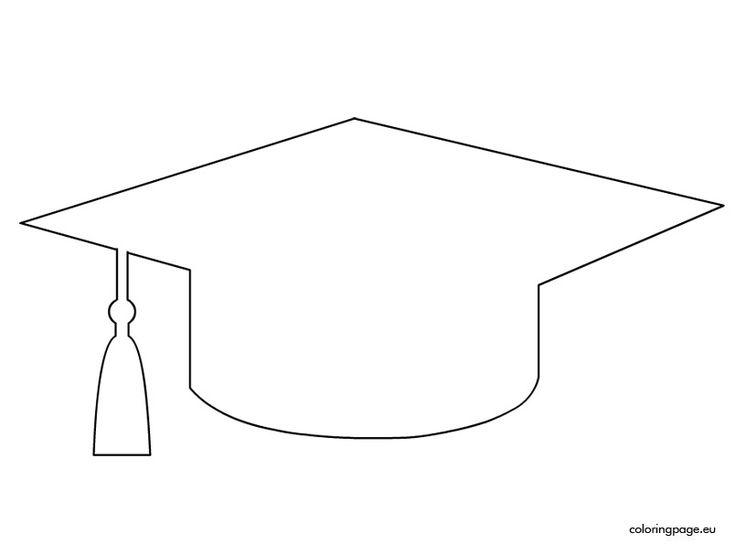 Graduation Cap Template School Pinterest Coloring