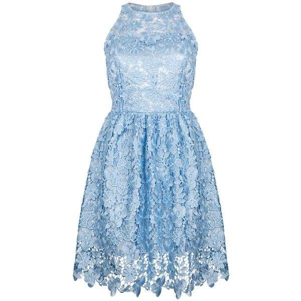 Ukulele - Poppy Dress (555 BRL) ❤ liked on Polyvore featuring dresses, blue, short dresses, zip dress, poppy dress, lace dress, lace cocktail dresses and fitted lace top