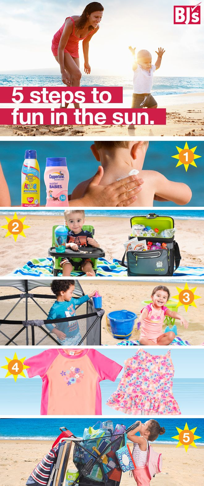 Who's ready to have fun in the sun with their little ones? Here's your go-to guide for beach days with baby: http://bit.ly/bjs-beach-day. Now, gather up your beach supplies, swimmies, sunscreen and snacks, and head to the ocean for a day of family fun.