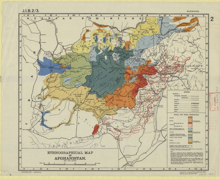 Ethnographical Map Of Afghanistan Maps Cartographic - Afghanistan taliban dostums massouds map
