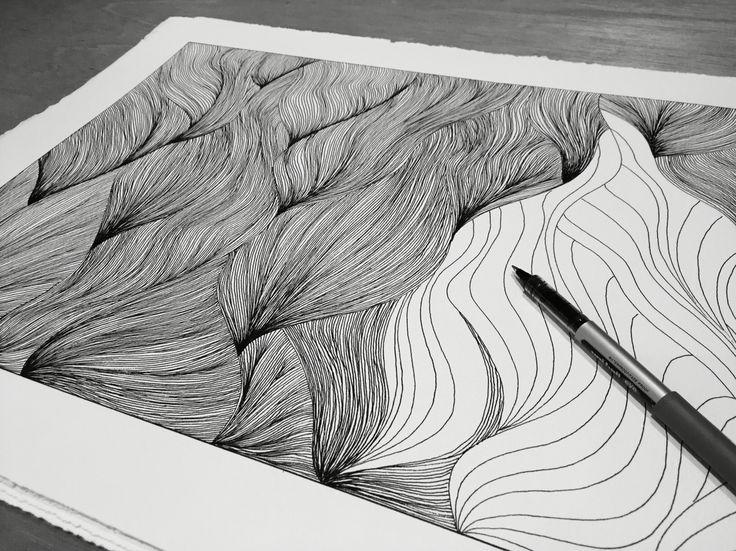 Pen drawing by Naja Utzon Popov
