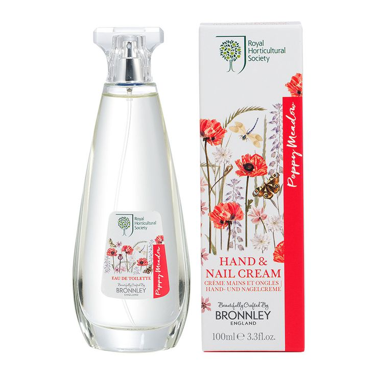 RHS Poppy Meadow Eau De Toilette. Enliven your senses with an invogorating spritz of our beautiful Poppy Meadow Eau De Toilette. Made in the UK. Shop Now.