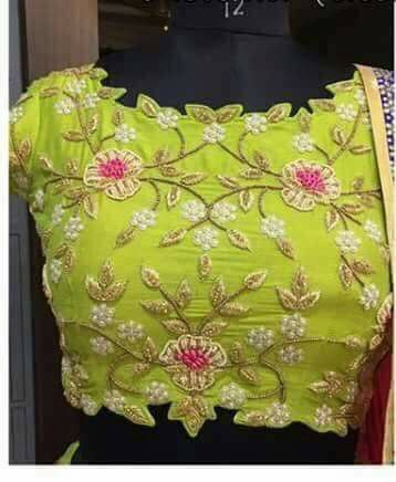 green blouse with work