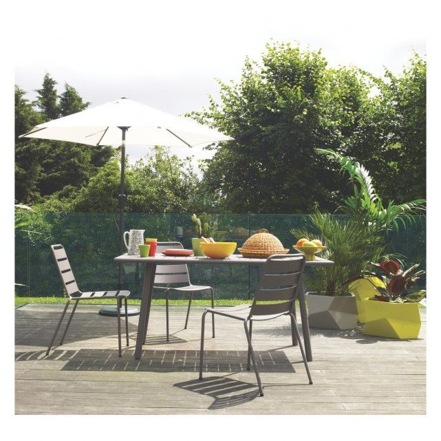 VIENA 4 6 Seat Grey Metal Garden Table | Buy Now At Habitat UK