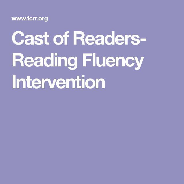 Cast of Readers- Reading Fluency Intervention