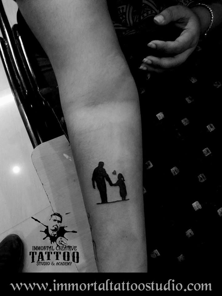 #artoflife #inkoftoday #tattoolife #artaddict #artoftoday #tattoo ed #supportart #tattoos #tattooartist #tattoo #tattooist #tattootime #ink #tattooflash #inktattoo #tattoolove #tattoodesign #tattooing #tattooart #tattooink #Ink #inked #Unique #father_daughter #Art #Indore at Immortal Creative Tattoo Studio #Indore #Dina-Karanur views, Comments and shares would be Appreciated!!