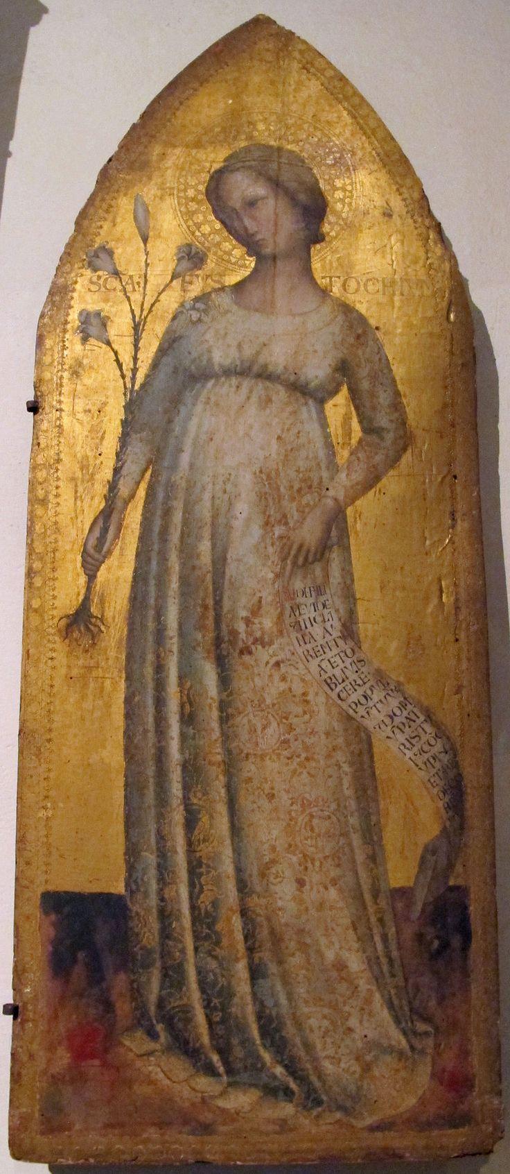 Maestro della Madonna Strauss - Santa Eustochio - 1390-1420 ca..- Pinacoteca Vaticana, Città del Vaticano