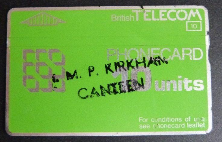 10unit H.M.P. Kirkham Canteen BT Phonecard