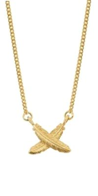 Feather Kisses Petite Pendent - Gold | Shop New Zealand NZ$ 398.90