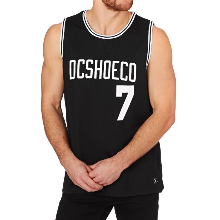 Men's DC Vests - DC Basketball Vest - Black