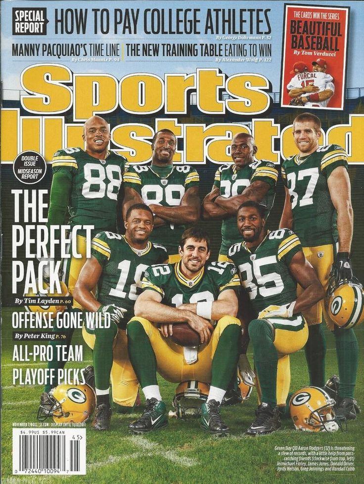 Sports Illustrated magazine Green Bay Packers Aaron Rodgers College athletes pay
