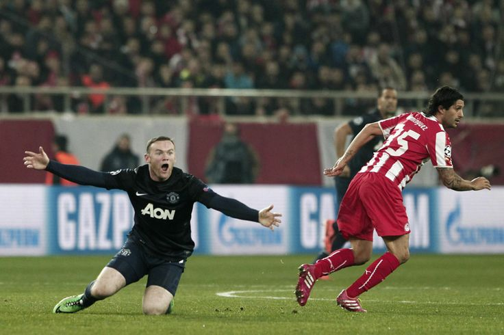 Rooney ain't a happy...after what he felt was a foul