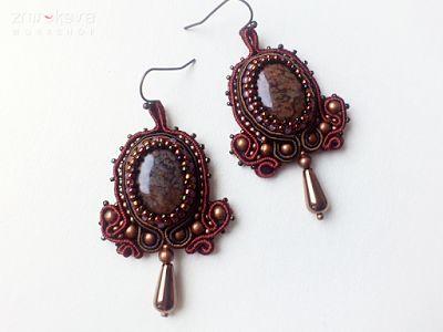 Pracownia Zmrokova: first soutache earrings