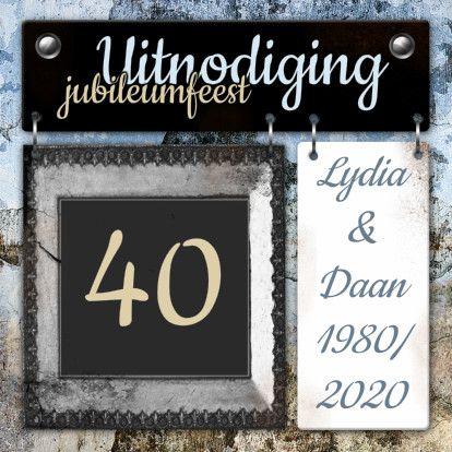 Feest borden jubileum vintage a 1