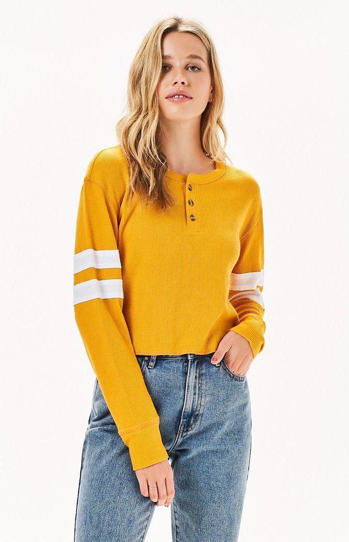 a60cd52b14 Me To We Jarred Waffle Knit Long Sleeve T-Shirt | PacSun | Fashion ...