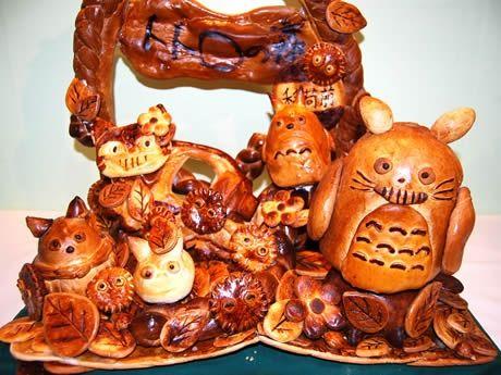 Totoro bread art