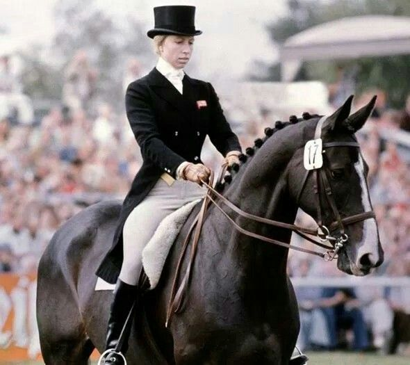 PRINCESS ANNE, COMPETING AS PART OF THE BRITISH EQUESTRIAN TEAM AT THE 1976 OLYMPICS IN MONTREAL, CANADA.