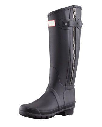 Rag & Bone Tall Zip Boot, Black by Hunter Boot at Bergdorf Goodman.