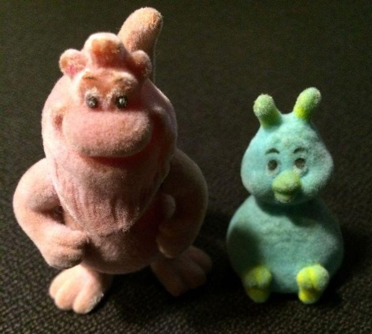 VTG MAIL IN 1986 ALCHEMY TOYS TEDDY RUXPIN: Wooly & Fob flocked PVC figures (B1) #Alchemy