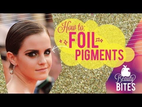 Beauty Bite: How to Foil Pigments | Makeup Geek How to get last minute stage makeup, right over your everyday work makeup!