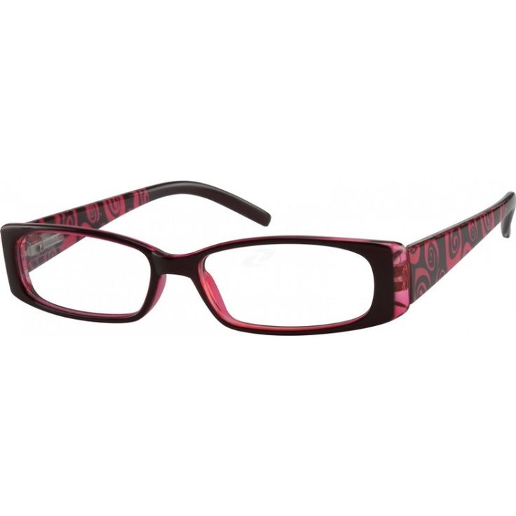 This full-rim, medium size, red plastic frame has a black laminated front over transparent red, and a red and black abst...Price - $9.95-eTP7VWT4