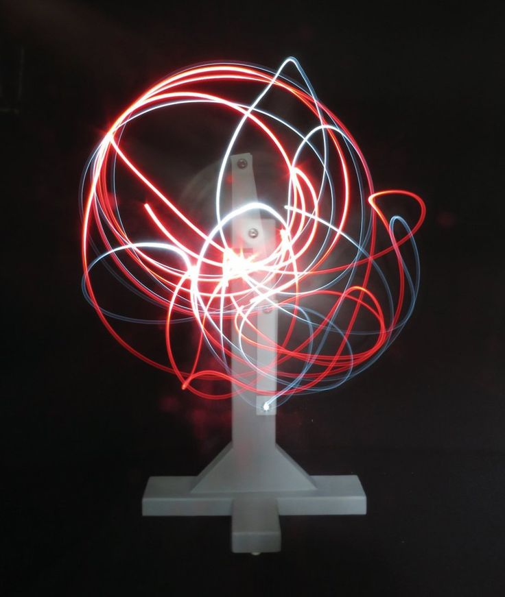 Explore Chaos Theory with an LED Double Pendulum - details here http://makezine.com/projects/double-pendulum-2/