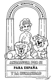 Escudo Andalucía en poster: Oficial y para Infantil / Primaria   Actiludis