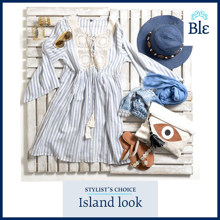 Greek island style is all about size! Small bag and hat. Big jewelry. Long dress. Mega-size sunglasses. Find them all here www.ble-shop.com