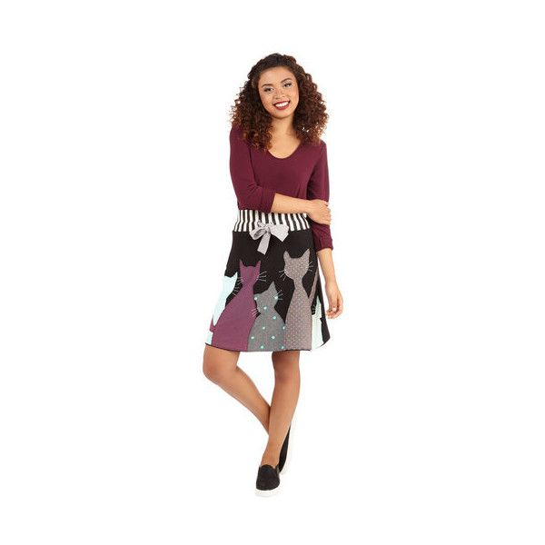 ModCloth Cats Mid-length A-line Best of Fur-iends Skirt and other apparel, accessories and trends. Browse and shop related looks.