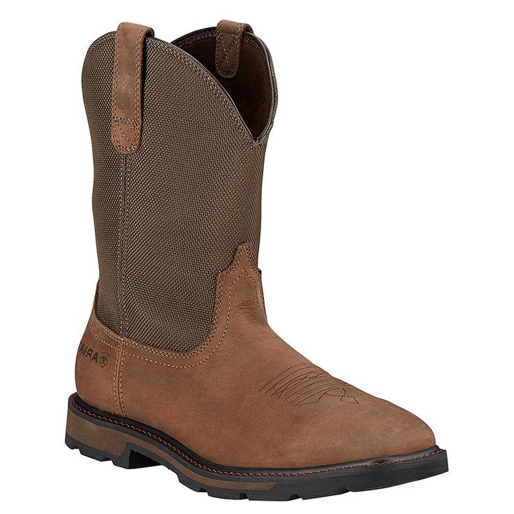 Ariat Men's Groundbreaker Western Work Boots - Square Toe