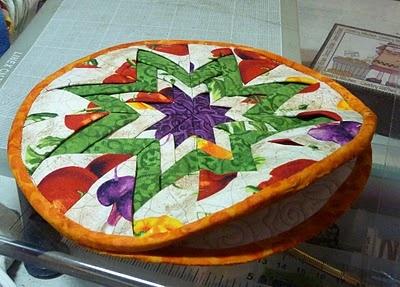 Bello tortillero de Patchwork...very mexican...