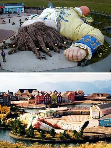 Gulliver's Kingdom in Japan - This place looks like it was so amazing. So sad to see it abandoned