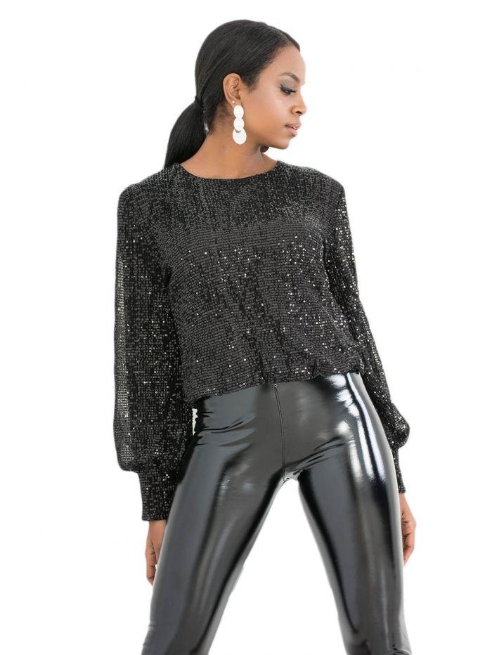 9c7897b0be0 T269 Μπλούζα με Παγιέτες - Decoro - Γυναικεία ρούχα, γυναικεία ...